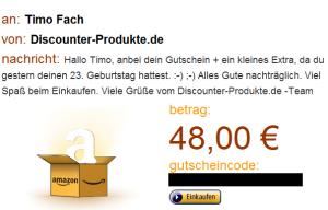 48 Euro Amazon Gutschein