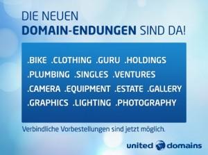 Jetzt bei united-domains.de die neuen Domainendungen vorbestellen